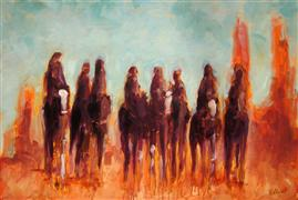Discover Original Art by Elliot Coatney | Eight Riders acrylic painting | Art for Sale Online at UGallery