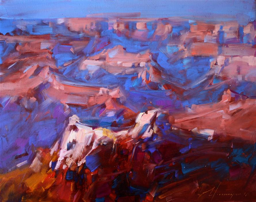 Discover Original Art by Vahe Yeremyan | Grand Canyon, Arizona oil painting | Art for Sale Online at UGallery
