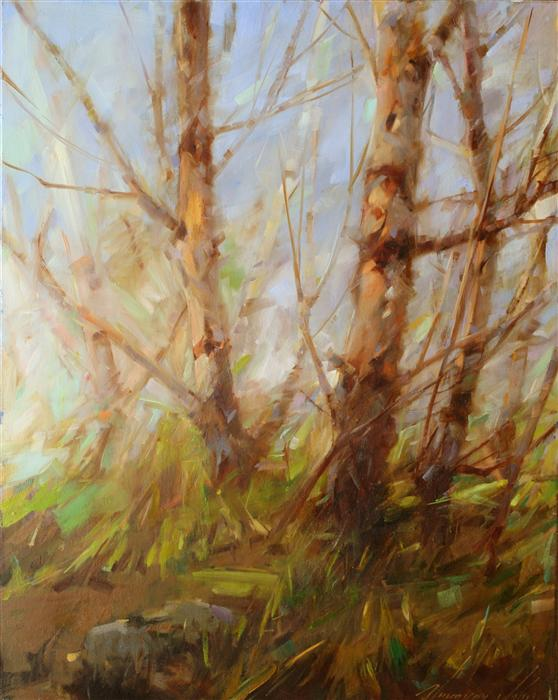 Discover Original Art by Vahe Yeremyan | Trees oil painting | Art for Sale Online at UGallery