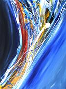 Discover Original Art by Piero Manrique | Flowing Upward acrylic painting | Art for Sale Online at UGallery