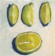 Original art for sale at UGallery.com | Sliced Lime by Nicole Newsted | $500 | oil painting | http://www.ugallery.com/oil-painting-sliced-lime