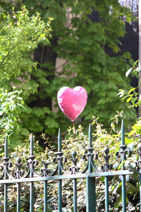 Original art for sale at UGallery.com | Heart Balloon in Paris by REBECCA PLOTNICK | $220 |  | ' h x ' w | http://www.ugallery.com/photography-heart-balloon-in-paris