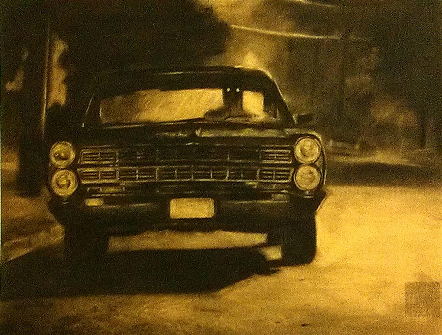Discover Original Art by Drew McSherry | Joyride charcoal drawing | Art for Sale Online at UGallery