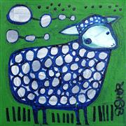 Original art for sale at UGallery.com | Little Sheep by Jessica JH Roller | $200 | acrylic painting | http://www.ugallery.com/acrylic-painting-little-sheep