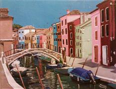 Original art for sale at UGallery.com | Burano, Italy by Patricia Freeman | $250 | acrylic painting | http://www.ugallery.com/acrylic-painting-burano-italy