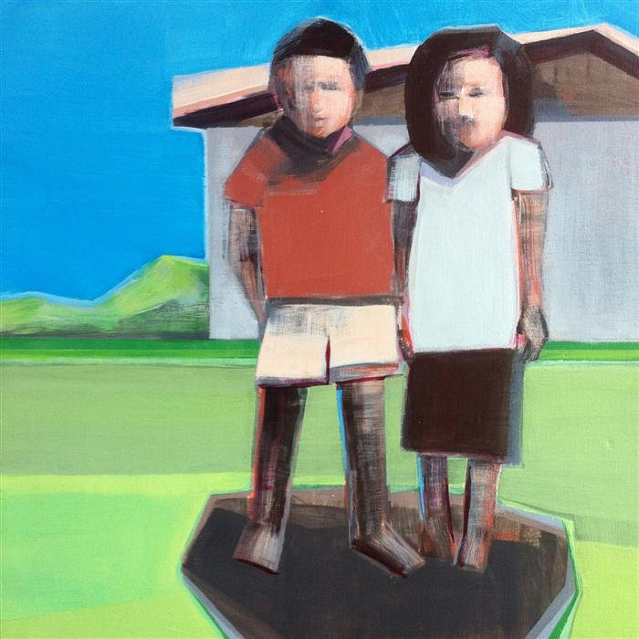 Original art for sale at UGallery.com | Two Figures by SHILO RATNER | $775 | Acrylic painting | 12' h x 12' w | http://www.ugallery.com/acrylic-painting-two-figures