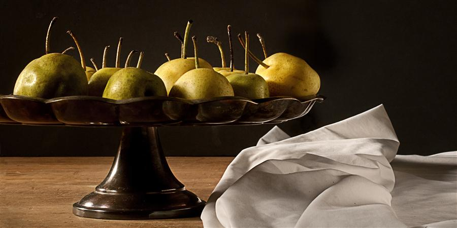 Discover Original Art by Justin Wheeler | Still Life: Platter of Pears photography | Art for Sale Online at UGallery