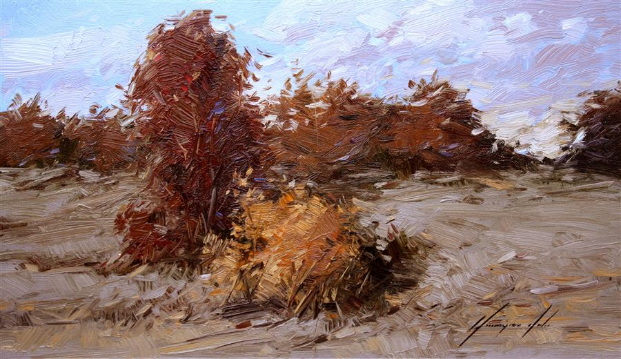 Discover Original Art by Vahe Yeremyan | Autumn Evening oil painting | Art for Sale Online at UGallery
