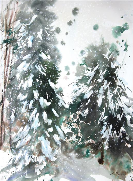 Original art for sale at UGallery.com | New England No. 223 by SUMIYO TORIBE | $425 | Watercolor painting | 30' h x 22' w | http://www.ugallery.com/watercolor-painting-new-england-no-223