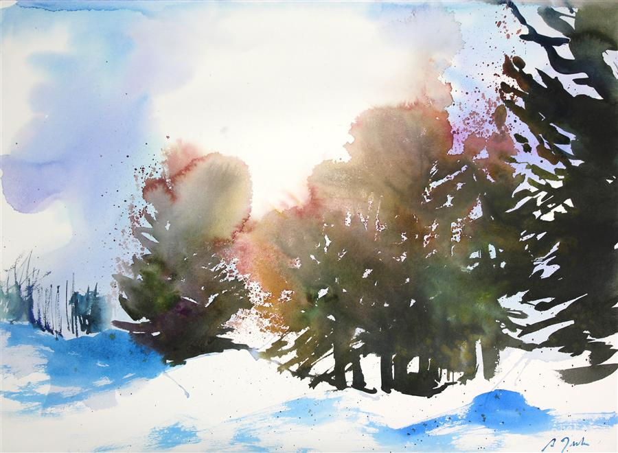 Original art for sale at UGallery.com | New England No. 204 by SUMIYO TORIBE | $425 | Watercolor painting | 22' h x 30' w | http://www.ugallery.com/watercolor-painting-new-england-no-204