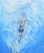 Discover Original Art by Piero Manrique | Ripples acrylic painting | Art for Sale Online at UGallery