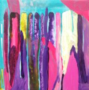 Abstract art,Expressionism art,acrylic painting,Some Sort of Interaction