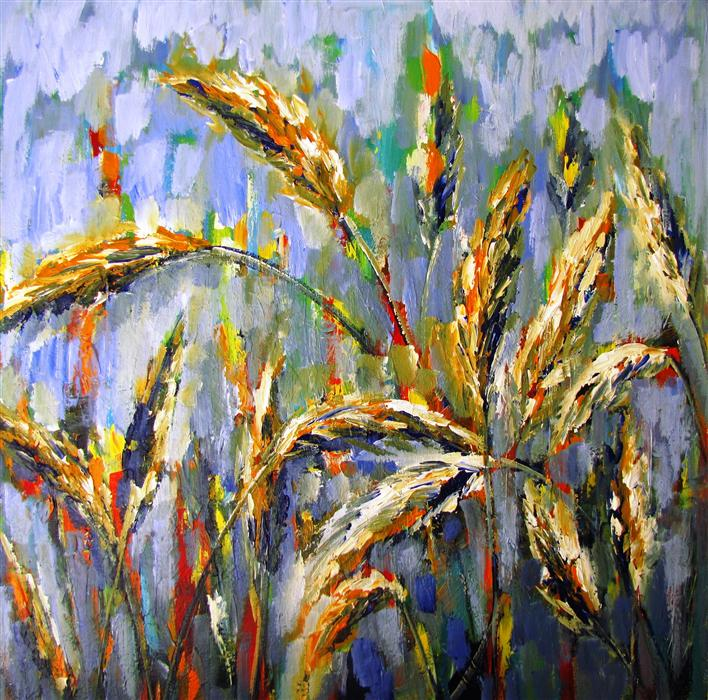 Discover Original Art by Ina Shtukar | Wheat Field acrylic painting | Art for Sale Online at UGallery