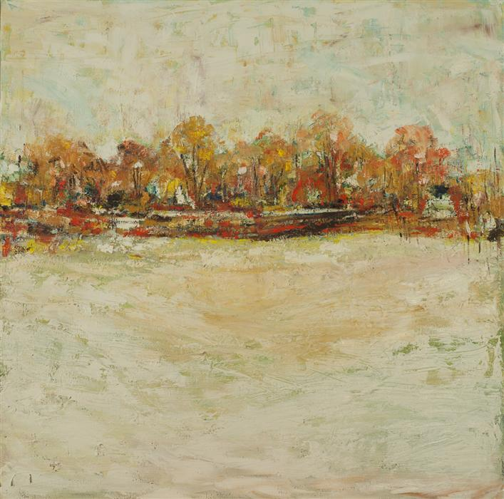 Discover Original Art by Kajal Zaveri | Fall Trees oil painting | Art for Sale Online at UGallery