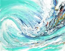 Discover Original Art by Piero Manrique | Magic Wave acrylic painting | Art for Sale Online at UGallery