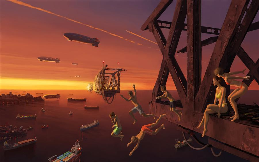 Original art for sale at UGallery.com | August by ALEX ANDREEV | $1,750 | Digital printmaking | 27.6' h x 44' w | http://www.ugallery.com/printmaking-digital-august