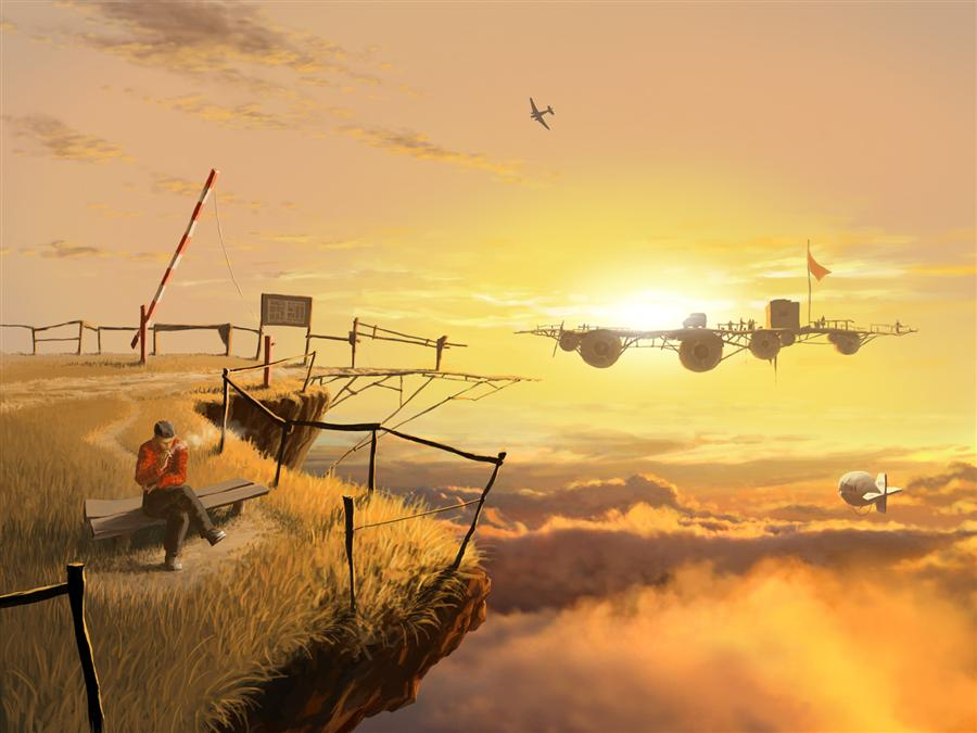 Original art for sale at UGallery.com | Crossing by ALEX ANDREEV | $1,550 | Digital printmaking | 19.7' h x 26.3' w | http://www.ugallery.com/printmaking-digital-crossing
