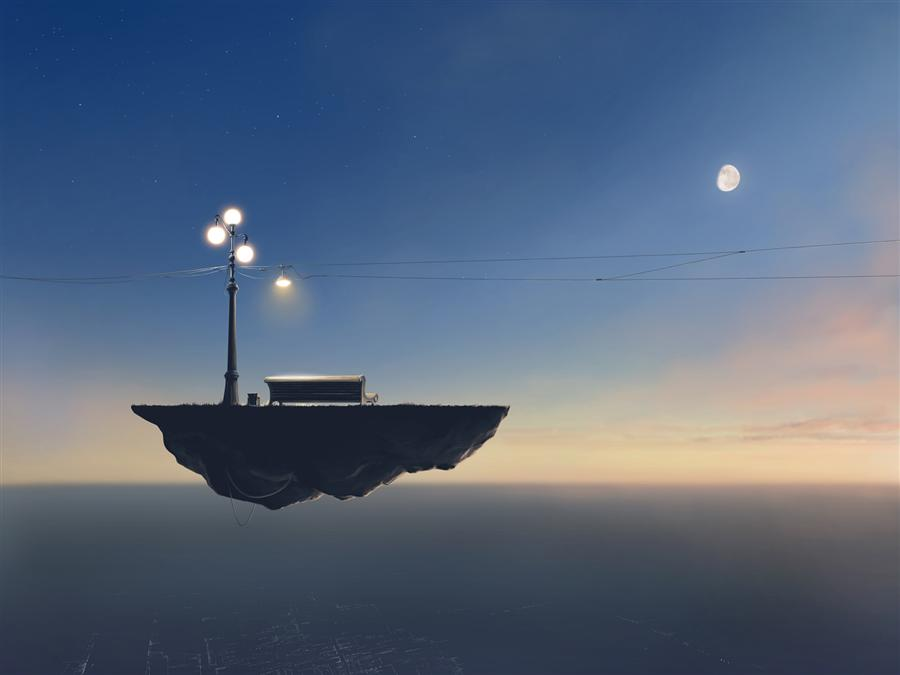 Original art for sale at UGallery.com | Private Party by ALEX ANDREEV | $1,550 | Digital printmaking | 19.7' h x 26.3' w | http://www.ugallery.com/printmaking-digital-private-party