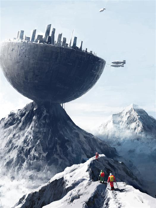 Original art for sale at UGallery.com | Edge City by ALEX ANDREEV | $1,550 | Digital printmaking | 26.3' h x 19.7' w | http://www.ugallery.com/printmaking-digital-edge-city