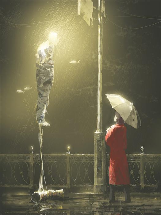Original art for sale at UGallery.com | Under the Rain by ALEX ANDREEV | $1,550 | Digital printmaking | 26.3' h x 19.7' w | http://www.ugallery.com/printmaking-digital-under-the-rain
