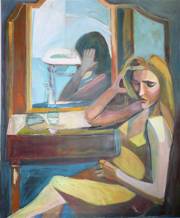 Discover Original Art by Carolyn Schlam   The Dressing Room oil painting   Art for Sale Online at UGallery