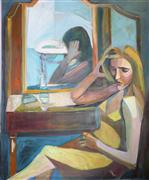 Original art for sale at UGallery.com | The Dressing Room by Carolyn Schlam | $4,700 | oil painting | http://www.ugallery.com/oil-painting-the-dressing-room