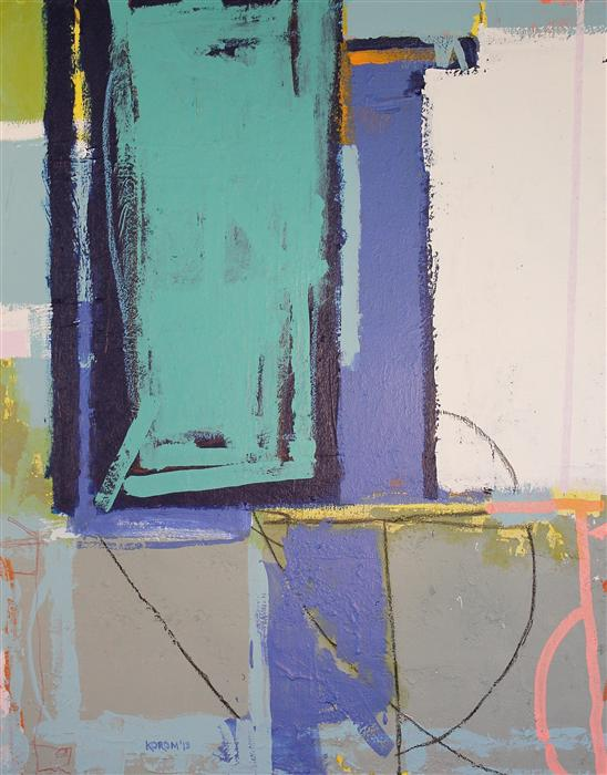 Original art for sale at UGallery.com | Abstract Painting 10 by JOEY KOROM | $2,600 | Mixed media artwork | 30' h x 24' w | http://www.ugallery.com/mixed-media-artwork-abstract-painting-10