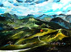 Discover Original Art by Piero Manrique | Mountain Path acrylic painting | Art for Sale Online at UGallery