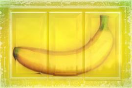 Pop art,Still Life art,Surrealism art,Cuisine art,Representational art,digital printmaking,Banana Triptych