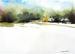 Original art for sale at UGallery.com | October Dawn by Charles Ash | $450 | watercolor painting | http://www.ugallery.com/watercolor-painting-october-dawn