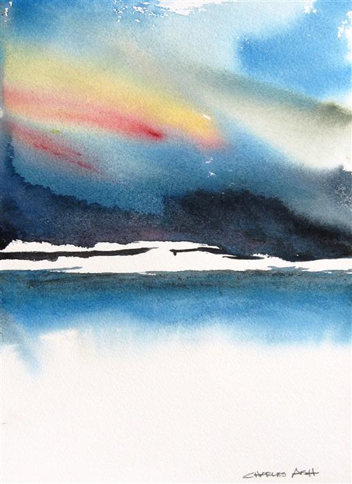Discover Original Art by Charles Ash | A Storm Coming In watercolor painting | Art for Sale Online at UGallery