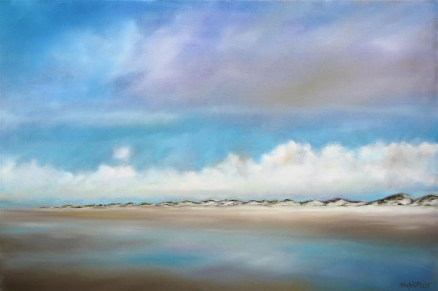 Original art for sale at UGallery.com | Dune Clouds by NANCY HUGHES MILLER | $1,225 | Oil painting | 24' h x 36' w | http://www.ugallery.com/oil-painting-dune-clouds