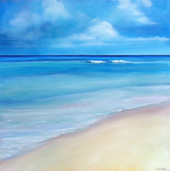 Original art for sale at UGallery.com | Water's Edge by NANCY HUGHES MILLER | $1,325 | Oil painting | 30' h x 30' w | http://www.ugallery.com/oil-painting-water-s-edge