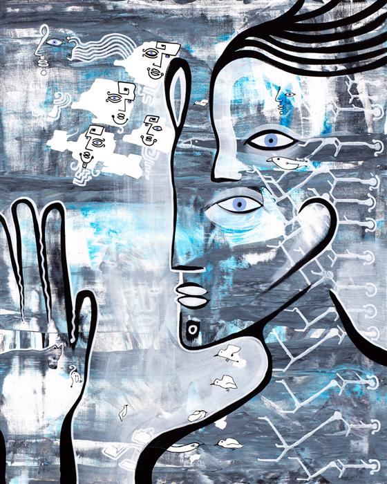 Original art for sale at UGallery.com | Spirit Guide by CAMERON LIMBRICK | $2,625 | Acrylic painting | 30' h x 24' w | http://www.ugallery.com/acrylic-painting-spirit-guide