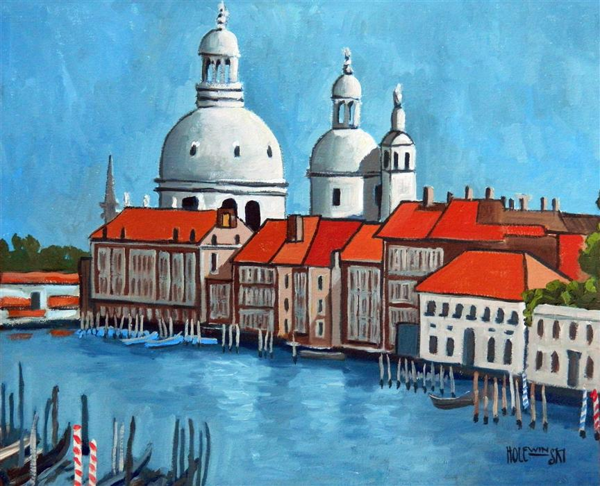 Discover Original Art by Robert  Holewinski | Canal Grande Venice oil painting | Art for Sale Online at UGallery