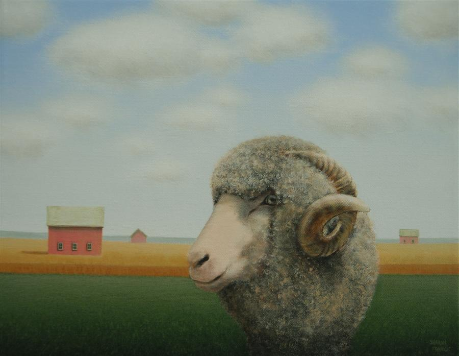 Original art for sale at UGallery.com | Out for a Wander by SHARON  FRANCE | $750 | Acrylic painting | 11' h x 14' w | http://www.ugallery.com/acrylic-painting-out-for-a-wander