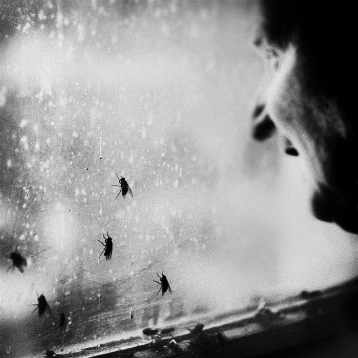 Original art for sale at UGallery.com | Man and Flies by RAFAL  KIJAS | $260 |  | ' h x ' w | http://www.ugallery.com/photography-man-and-flies