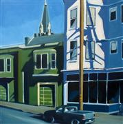 Architecture art,Landscape art,City art,oil painting,17th Street Afternoon