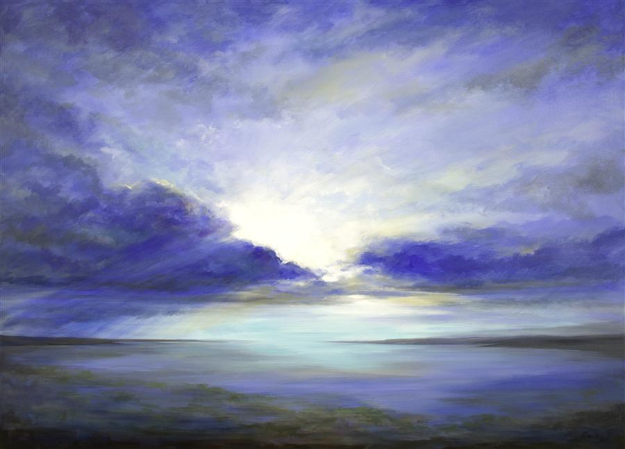 Original art for sale at UGallery.com | South Bay Sky by SHEILA FINCH | $8,000 | Acrylic painting | 42' h x 58' w | http://www.ugallery.com/acrylic-painting-south-bay-sky