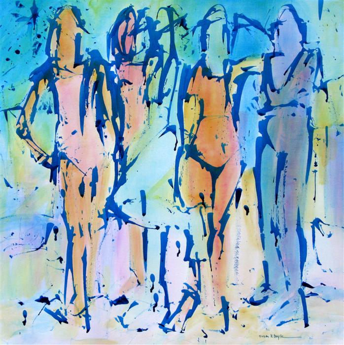 Discover Original Art by Susan K Boyle | The Fauve Five acrylic painting | Art for Sale Online at UGallery