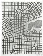Abstract art,City art,pencil drawing,Imaginary City #18