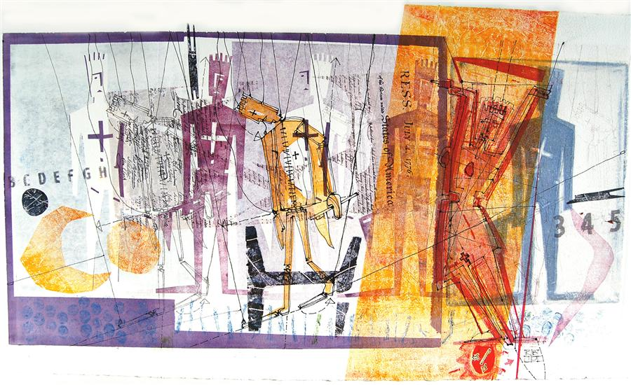 Discover Original Art by Karin Bruckner | VictoryAndDefeat printmaking | Art for Sale Online at UGallery