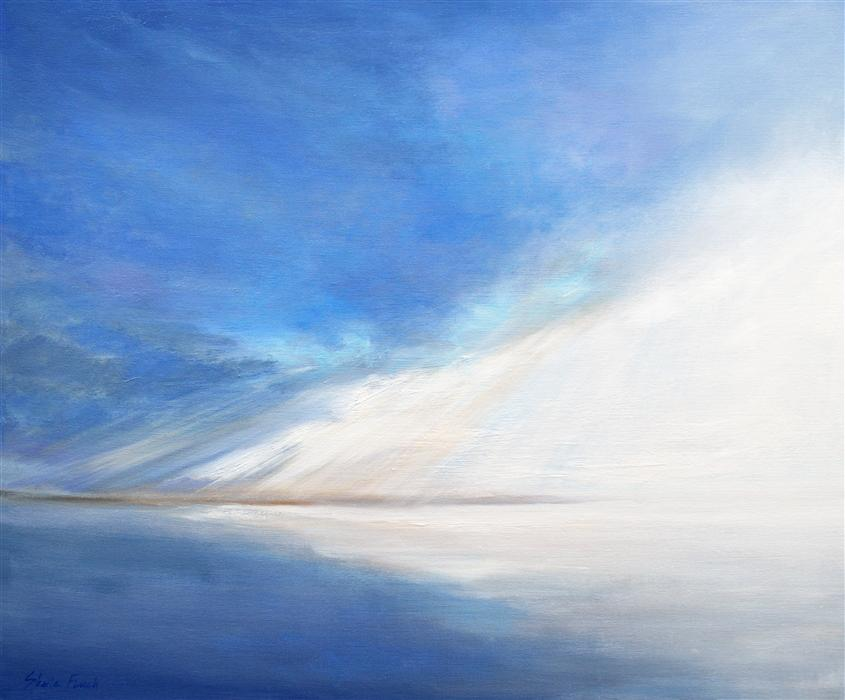 Original art for sale at UGallery.com | Light on the Bay by SHEILA FINCH | $2,300 | Oil painting | 20' h x 24' w | http://www.ugallery.com/oil-painting-light-on-the-bay