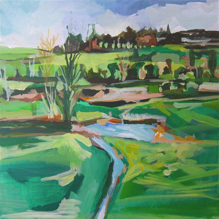 Original art for sale at UGallery.com | A Moment In Ireland by COLETTE WIRZ NAUKE | $925 | Acrylic painting | 18' h x 18' w | http://www.ugallery.com/acrylic-painting-a-moment-in-ireland
