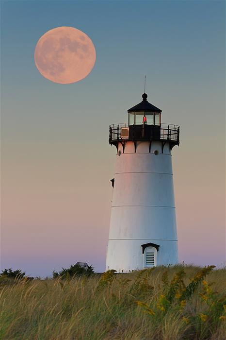 Original art for sale at UGallery.com | Moon over Martha's Vineyard by KATHERINE GENDREAU | $220 |  | ' h x ' w | http://www.ugallery.com/photography-moon-over-martha-s-vineyard