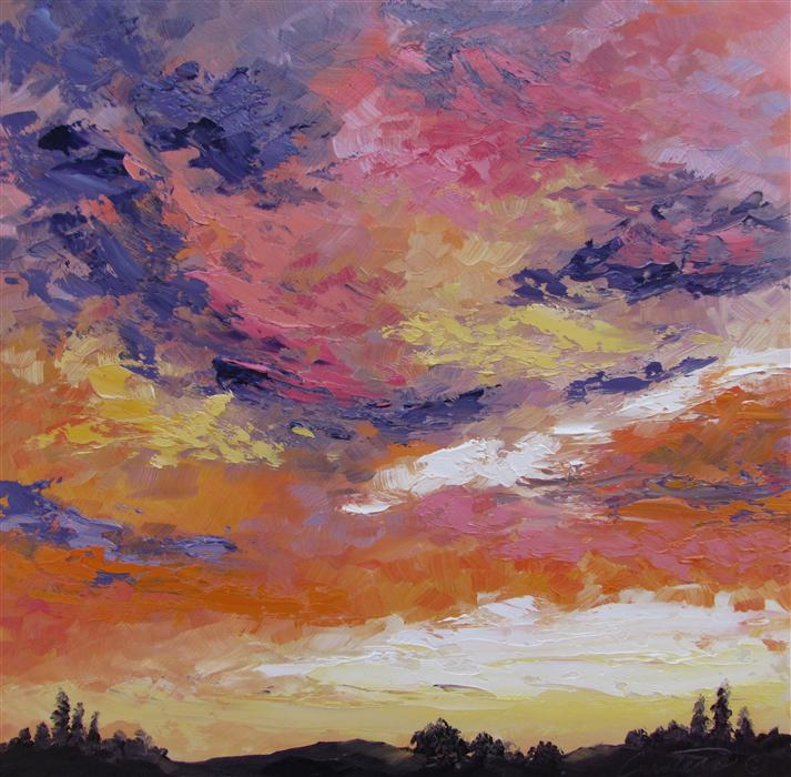 Original art for sale at UGallery.com | Melodic by CYNDY CARSTENS | $400 | Oil painting | 12' h x 12' w | http://www.ugallery.com/oil-painting-melodic