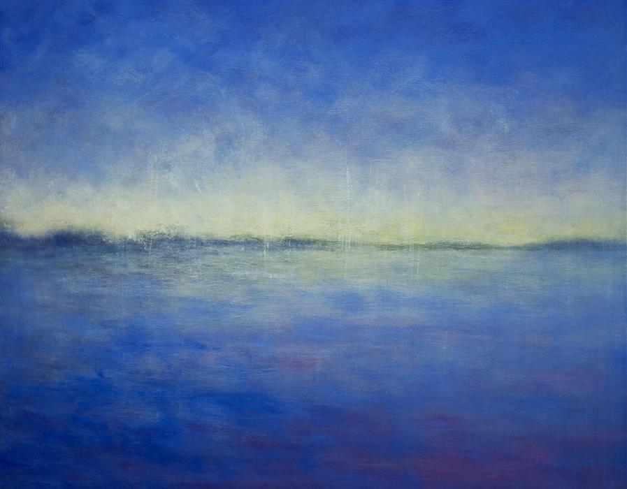 Discover Original Art by Victoria Veedell | Blue Horizon oil painting | Art for Sale Online at UGallery