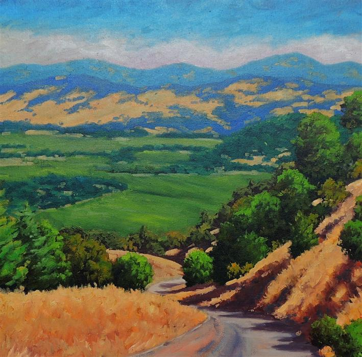 Discover Original Art by Steven Guy Bilodeau | Napa Valley from Oakville Grade oil painting | Art for Sale Online at UGallery