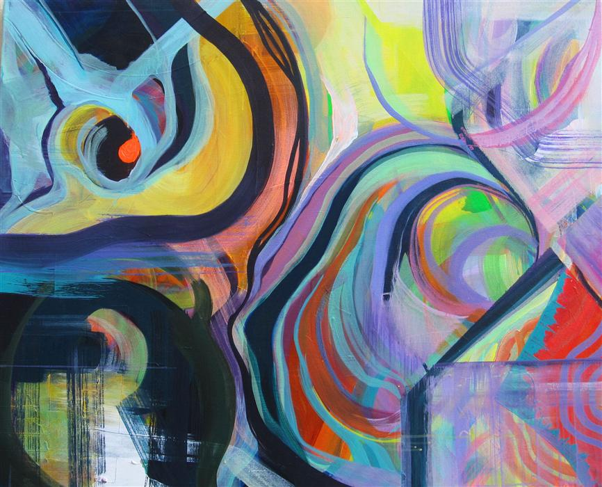 Original art for sale at UGallery.com | The Act of Performing by NINA VIAKHIREVA | $3,800 | Acrylic painting | 42' h x 52' w | http://www.ugallery.com/acrylic-painting-the-act-of-performing