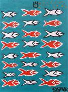 Original art for sale at UGallery.com | Twenty-Four Fish by Jessica JH Roller | $375 | acrylic painting | http://www.ugallery.com/acrylic-painting-twenty-four-fish